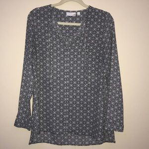 14th and union long sleeve blouse